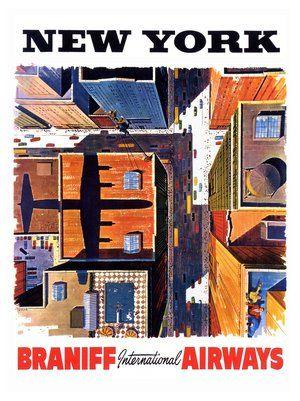 new-york-travel-poster-1960s by nostalgicphotosandprints,