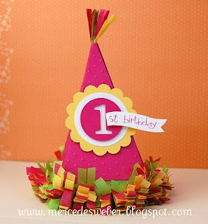 Birthday hat using the petal cone die