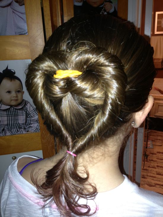 Valentines day girl hairstyle