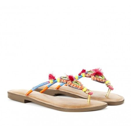 BOHO Chic Tribal Sandals  Sole Society Summer Brights - Tribal sandals - Katana #fashion #boho #chic #tribal #sandals #summer #brights