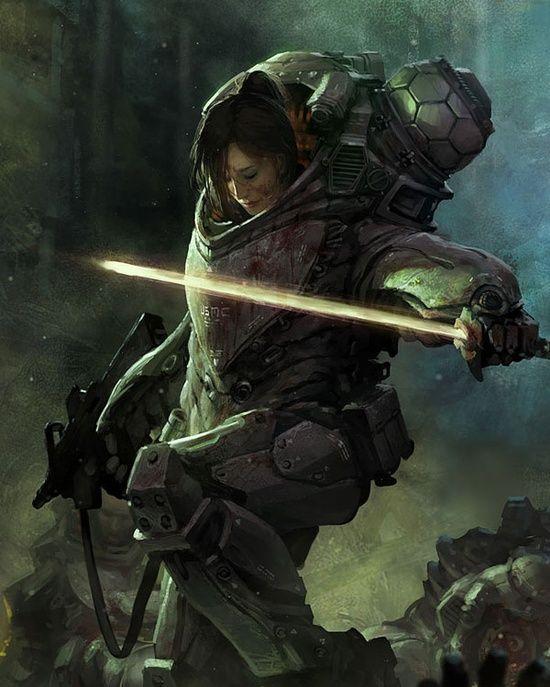 Beautiful sci-fi #3d char #3d character