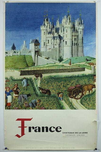 Vintage travel poster, France