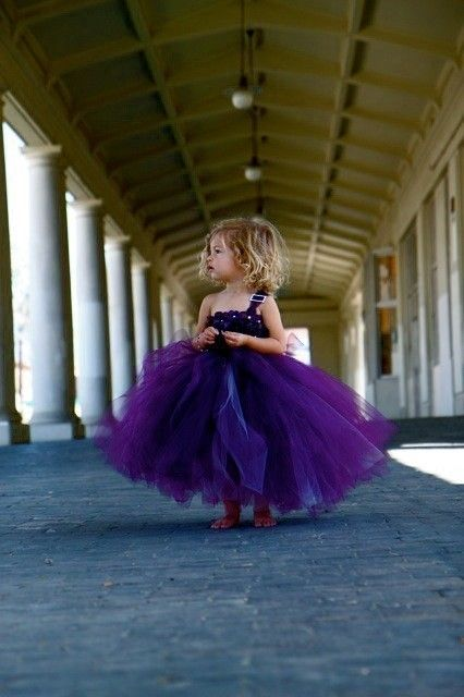 Fluffy Tuffies purple tulle dress