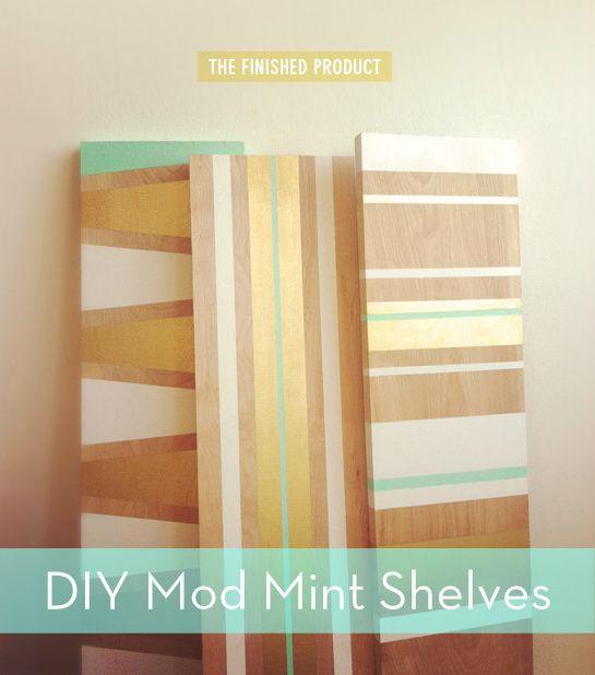 DIY painted shelves! #DIY