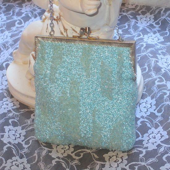 Gorgeous #vintage #aqua #beaded #purse. Perfect! @D'Wana Villines Bain #dteam