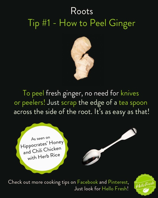 How to Peel Ginger #cooking #tips