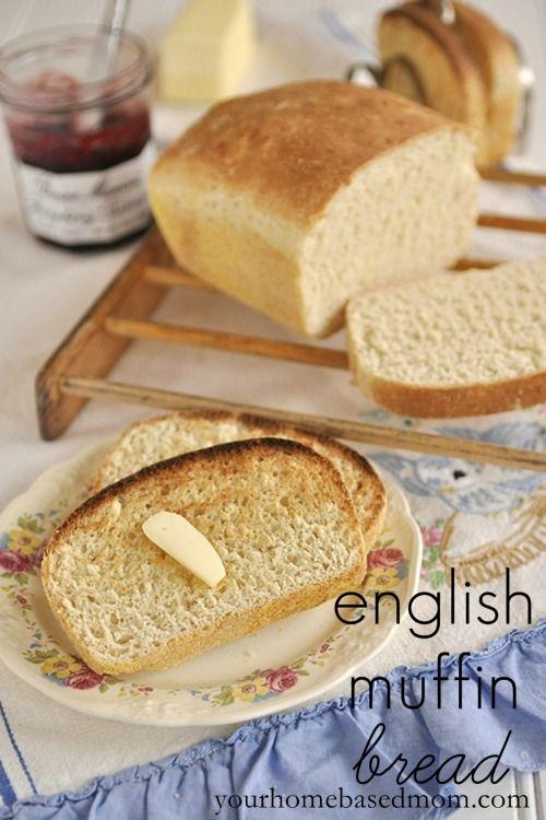 english muffin bread @ yourhomebasedmom.com  #bread,#recipes