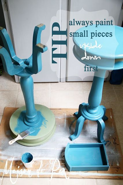 Tip for painting furniture at www.maisondepax.com  - Recipe for DIY Chalk Paint