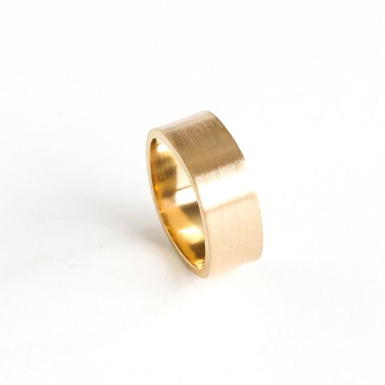 Modern 14KY gold ring handmade by bluehourdesigns