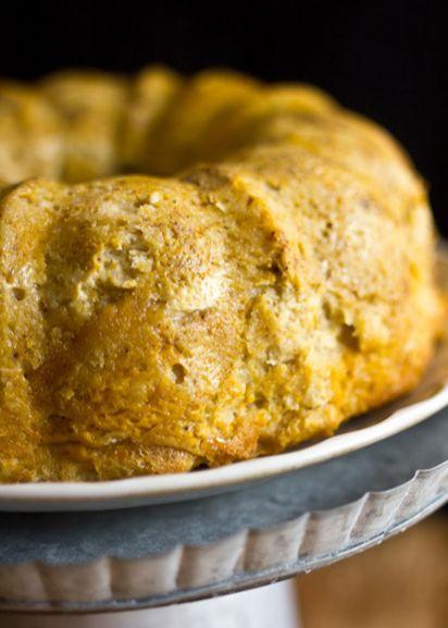 Maple Pumpkin Bourbon Bread Pudding