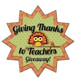 Giving Thanks to Teachers Giveaway Day Eight {LAST DAY}! - The Organized Classroom Blog  Grab all 8 freebies!