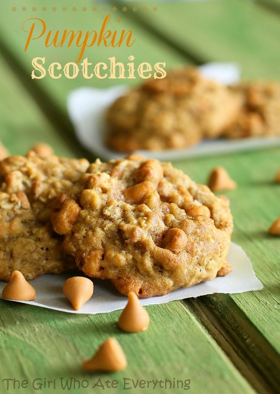 Pumpkin Scotchies Recipe ~ incredibly moist cookie