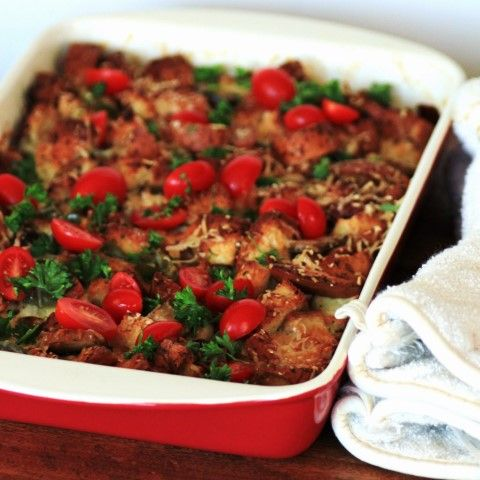 Gluten Free Savory Bread Pudding