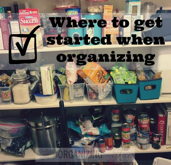 Where to get started when organizing