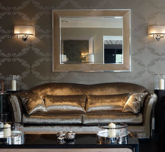 InStyle-Decor.com Beverly Hills Luxe Brushed Brown Suede Mirror    Inspiring Interior Design Fans With Luxury Home Decor Ideas From Hollywood Enjoy & Happy Pinning