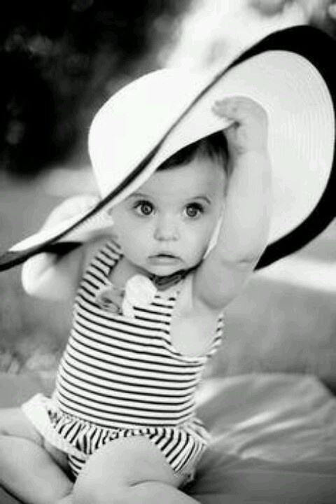Cute baby girl so fashionable!