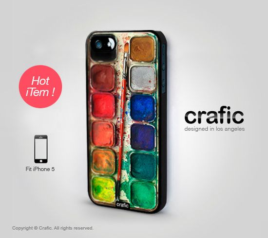 Watercolor Set iPhone 5 Case by CRAFIC on Etsy, $19.99