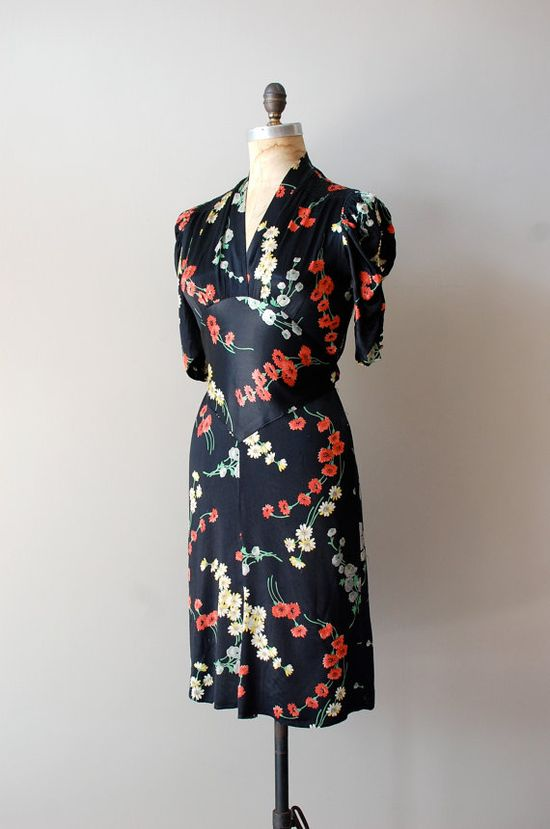 vintage 1930s silk Campuya dress