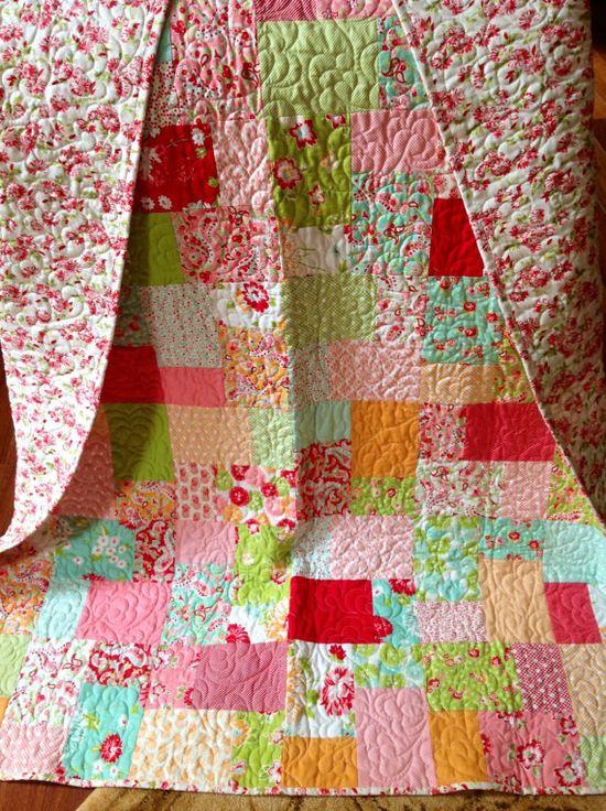 Handmade Quilt Moda Scrumptious Patchwork by peanutbutter14