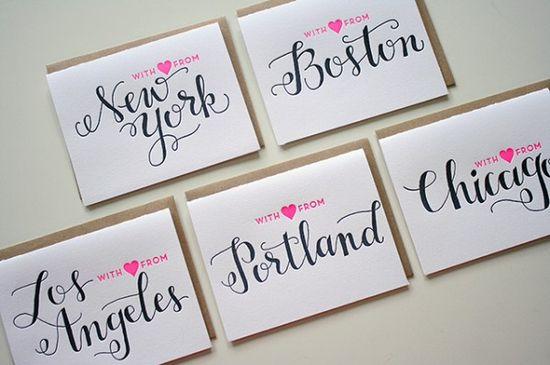 Letterpress cards from Parrott Design Studio