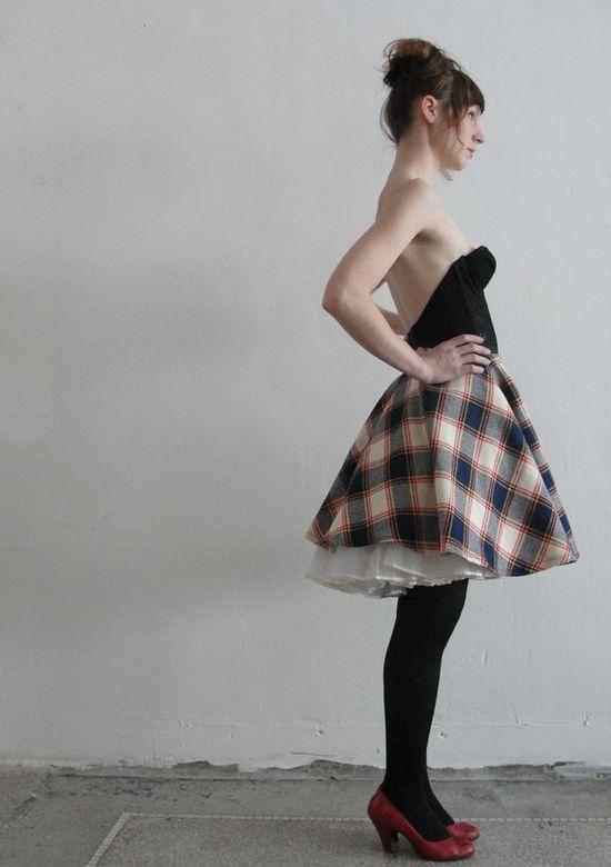Handmade Skirt from Vintage Fabric. $35.00, via Etsy.