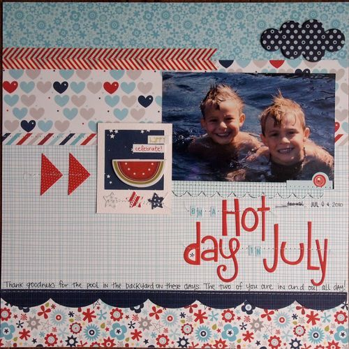 Hot Day in July featuring All American from Bella Blvd - Scrapbook.com