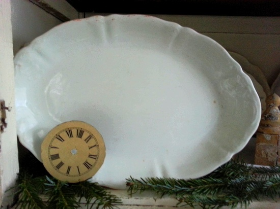 Ironstone Platter by shabbychatue on Etsy, $30.00