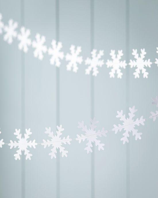 Hand Made Snowflake Garland