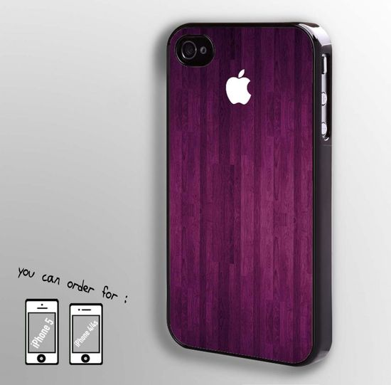 wooden case with apple logo - iphone case