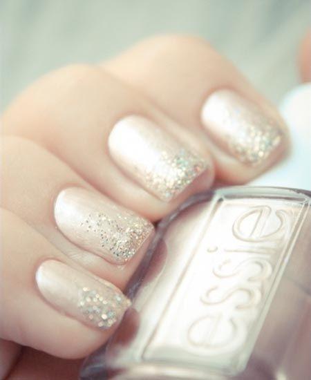 Shimmer ombré nails