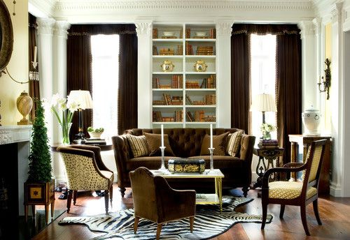 traditiotal living room design with pilasters - #room #roomdecor #interiordesign #pilasters