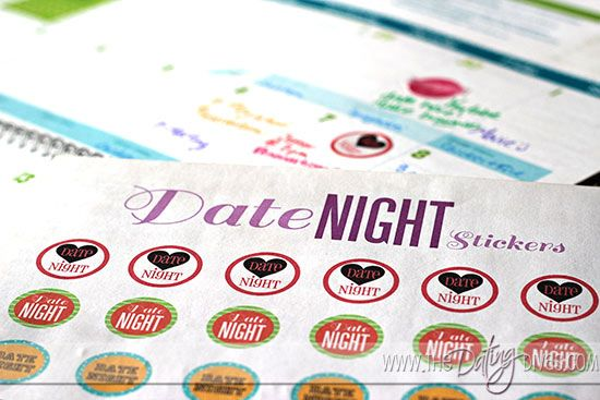 Print our these FREE date night stickers for your calendar!  After all, if it's not on the calendar- it doesn't usually happen.  www.TheDatingDiva... #freeprintable #stickers #datenight