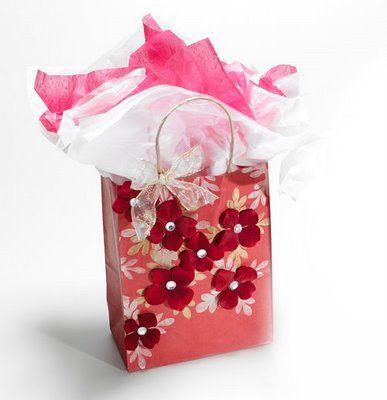 Cathie & Steve Make it: Handmade Gift Bags with stencils and velvet flowers