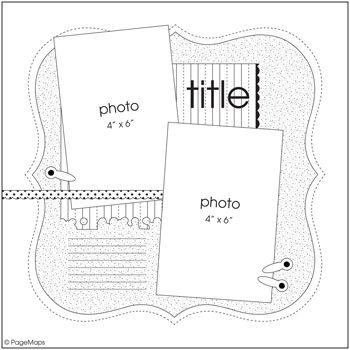 July PageMaps Sketch#2 - Scrapbook.com