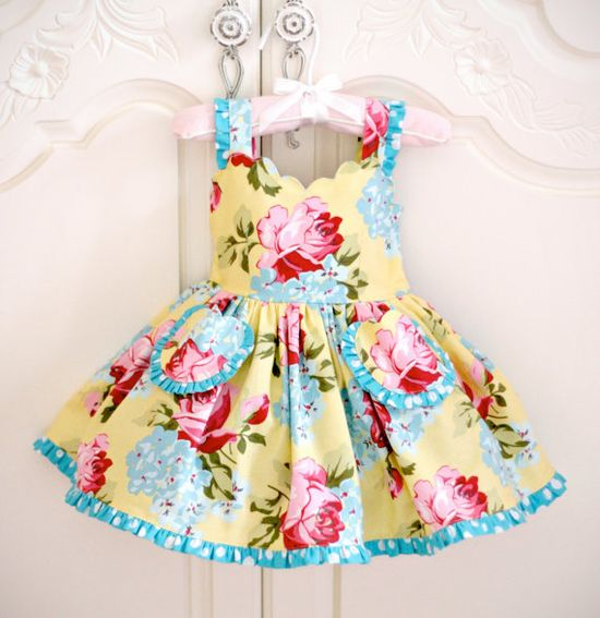 Darling Dress! Awwww Olivia would be to cute in this