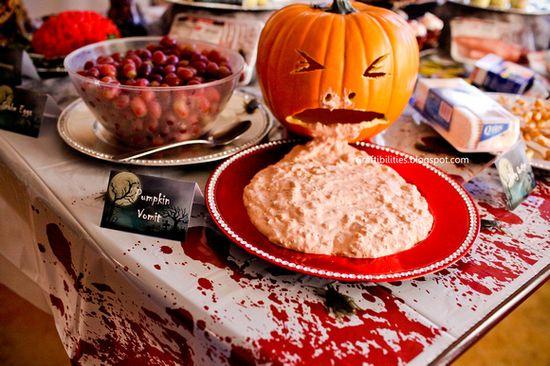 Halloween Party IDEAS - Pumpkin Vomit