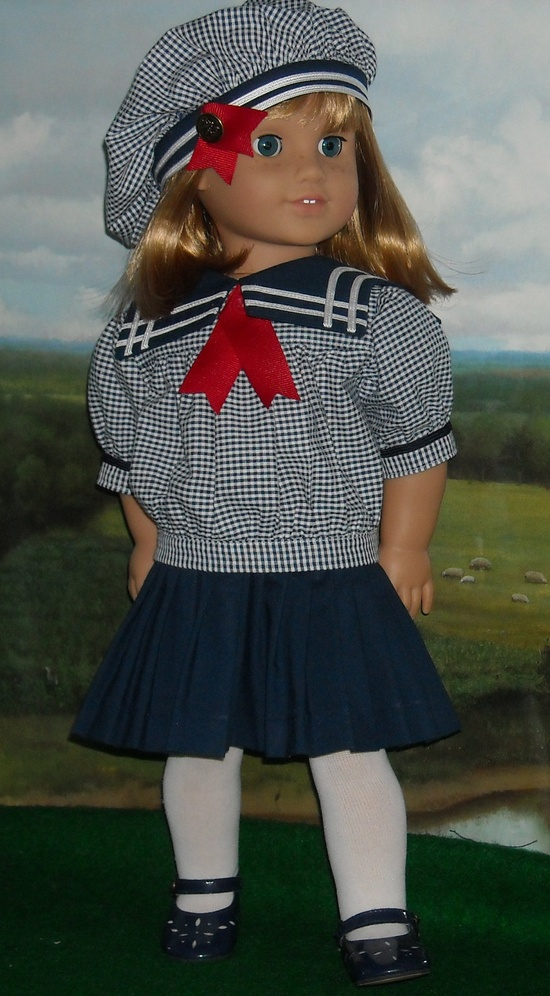 2-pc Middy Dress and Tam for 18 Inch Dolls. $49.99, via Etsy.