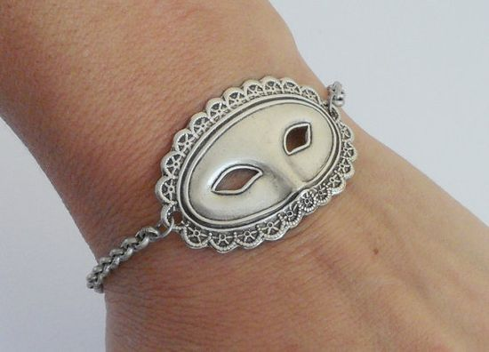 Steampunk Masquerade Mask Bracelet  bellamantra  Eclectic Modern Vintage Inspired Jewelry & Accessories