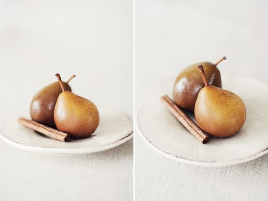 Vanilla Poached Seckel Pears With Honey & WarmSpices
