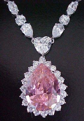 Pink Diamond Necklace