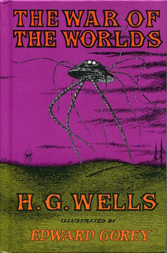 Edward Gorey cover for H.G. Wells War of the Worlds