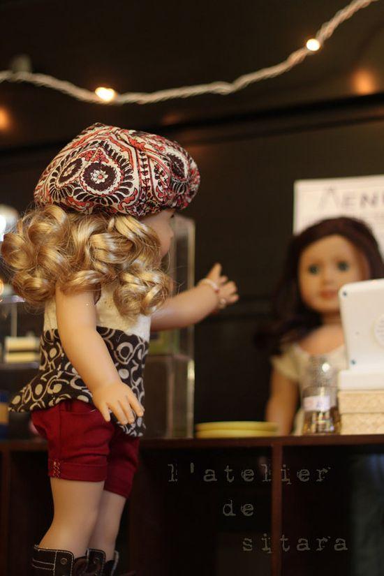 Dolls at coffee shop. Liberty Jane Pattern. by sitarastarlight on etsy.