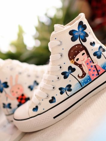 Chic Candy Color Cartoon Printing Sneakers on DressLuck.com