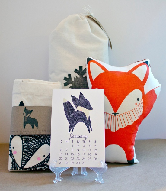 Fox Holiday Gift Pack - Christmas Gift, Gift Wrapped. $55.00, by Gingiber via Etsy.