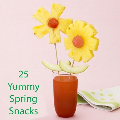Tired of the same old snacks? 25 Yummy Spring Snacks...