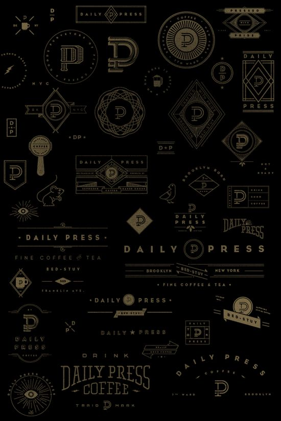 Daily Press Identity by Matt Delbridge, via Behance