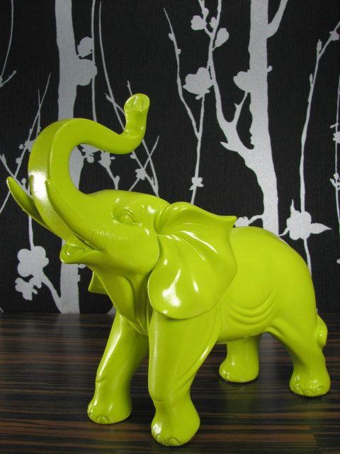 Green elephant!