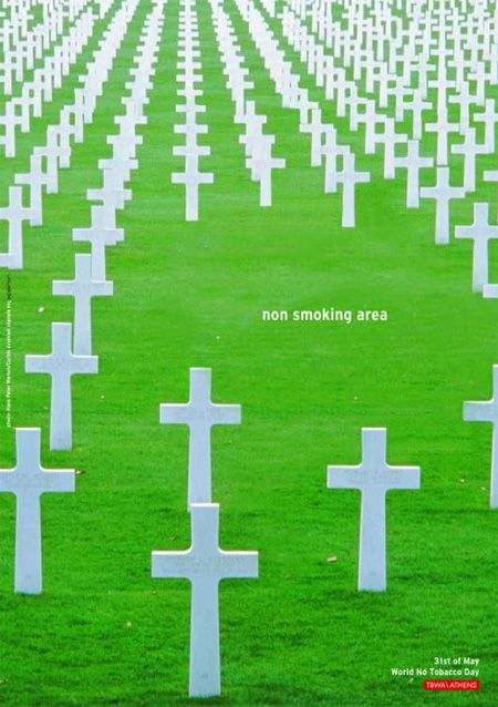 World No Tobacco Day Advertisement. Simple but it gets the point across. (Pardon the pun!)