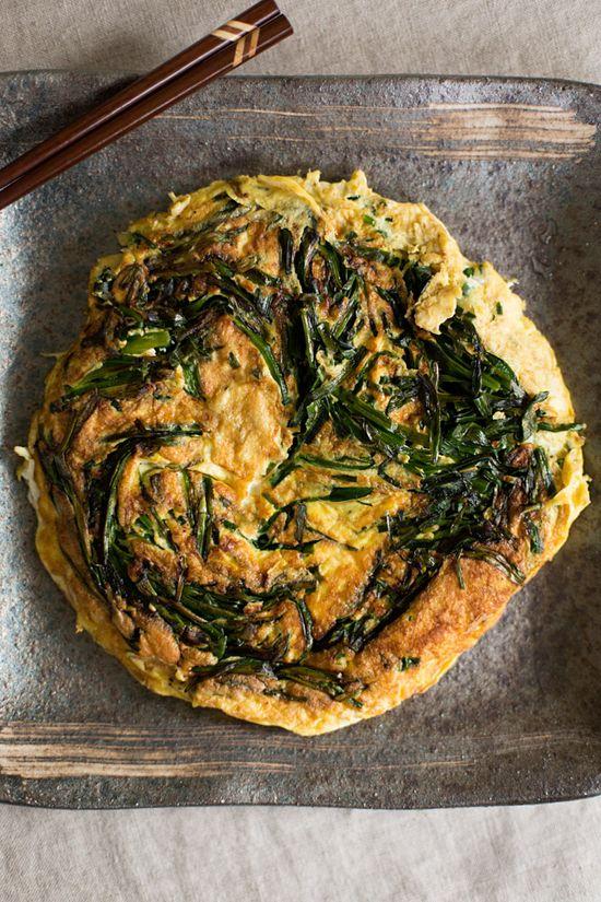Nira-Tama (Japanese Garlic Chive Omelette)