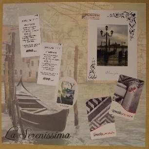 Venice Scrapbooking Page Layout